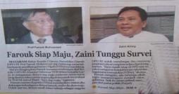 Farouk Muhammad dan Zaini Arony baju Putih (Radar Lombok   Rabu 22 Februari 2012)