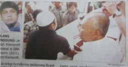 Jenazah Kismarofit mendarat di BIM {Padang Ekspres, 23 Januari 2012}