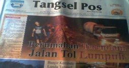 Headline Tangsel Pos Edisi Jumat 20 April 2012. Courtesy: Harian Tangsel Pos