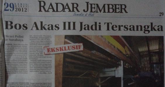 Akas, menipu dan tertipu (Radar Jember)