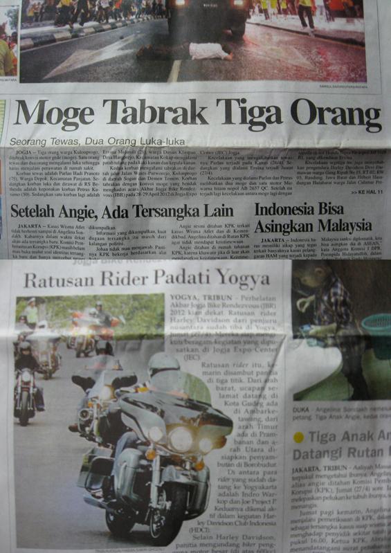 dikutip dari media koran Bernas Jogja dan Tribun Jogja
