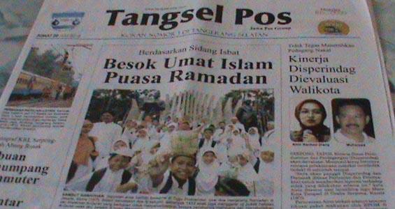 Tangsel Pos Edisi 20 Juli 2012