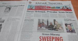 Rubrik Radar Tangsel di Harian Tangerang Ekspres