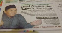 (Dikutif dari harian Lombok Post edisi 14 Agustus 2012)
