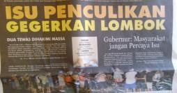 (Dikutip dari Lombok Post edisi 22 Oktober 2012)