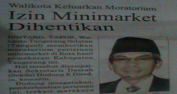 Harian Tangsel Pos 29 Oktober 2012