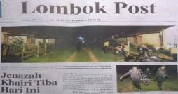 (Dikutif dari harian Lombok Post edisi 12 November 2012)
