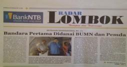 (Dikutip dari Radar Lombok edisi 5 November  2012)