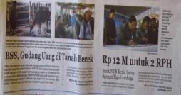 (Dikutip dari Lombok Post edisi 13 Desember 2012)