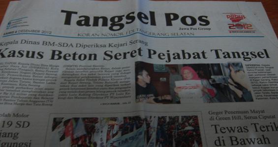 Tangsel Pos 6 Desember 2012